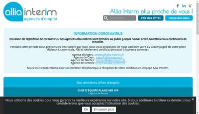 Site internet de Allia Interim