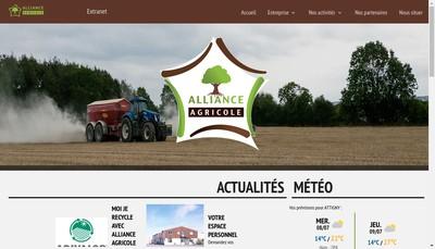 Site internet de Alliance Agricole