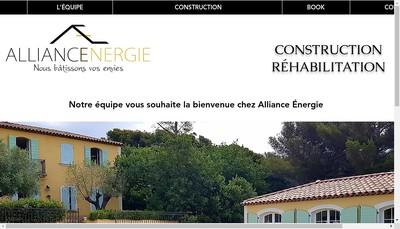 Site internet de Alliance Energie Provence