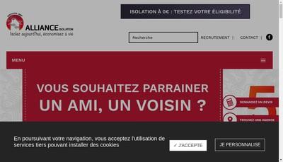 Site internet de Alliance Isolation