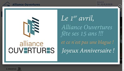 Site internet de Alliance Ouvertures
