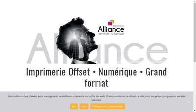 Site internet de Alliance Partenaires Graphiques