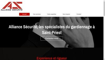Site internet de Alliance Securite