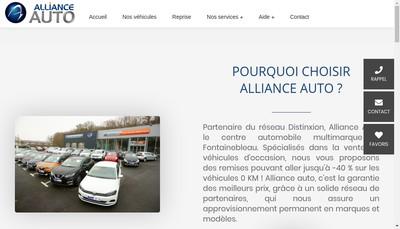 Site internet de Alliance Auto