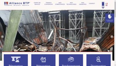 Site internet de Alliance Btp
