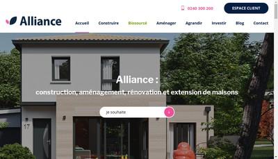 Site internet de Alliance Construction