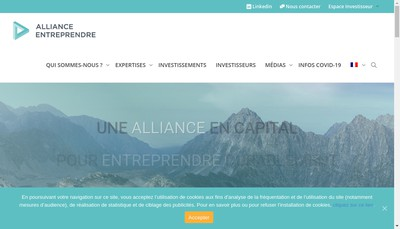 Site internet de Alliance Entreprendre