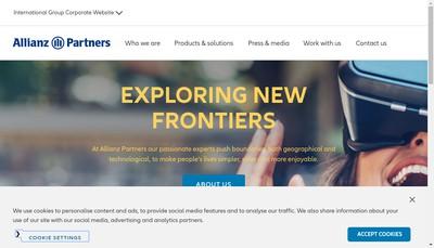Site internet de Allianz Partners SAS
