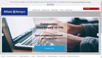 Site internet de Allianz Banque
