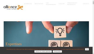 Site internet de Allience