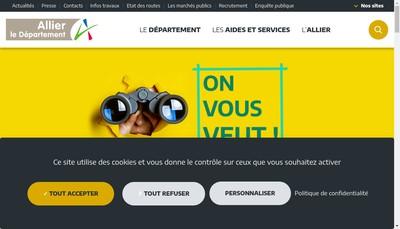 Site internet de Allier Conseil