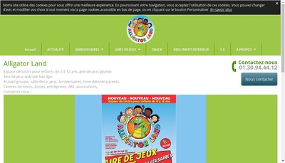 Site internet de Alligator Land