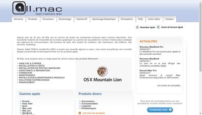 Site internet de All-Mac