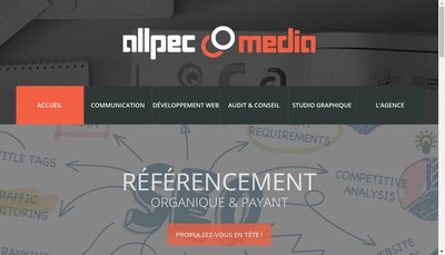 Site internet de Allpec Media