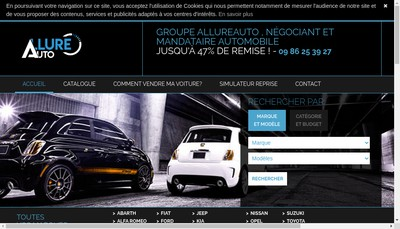 Site internet de Allure Auto