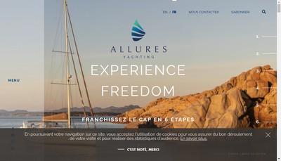 Site internet de Allures Yachting