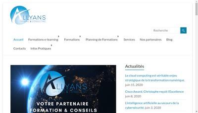 Site internet de Allyans Training & Consulting