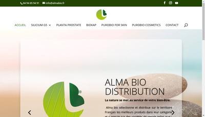 Site internet de Alma Bio Distribution