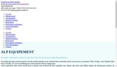 Site internet de Alp Equipement SARL