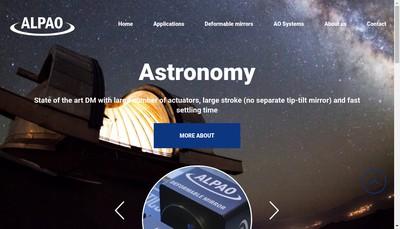 Site internet de Alpao
