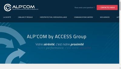 Site internet de Alp'Com