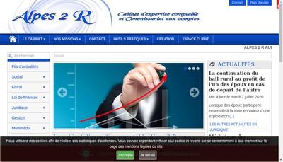 Site internet de Alpes 2 R Audit Expertise