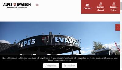 Site internet de Alpes Evasion