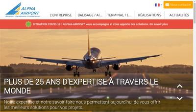 Site internet de Alpha-Airport
