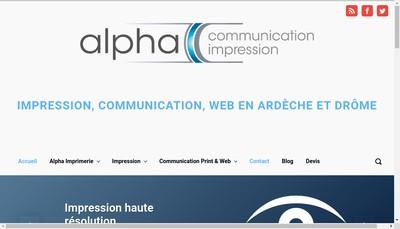 Site internet de Alpha Communication Impression