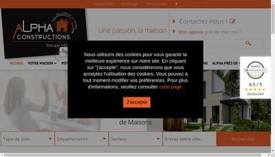 Site internet de Alpha Constructions