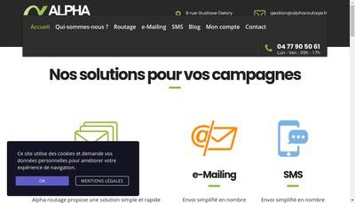 Site internet de Alpha Routage