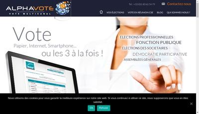 Site internet de Alphavote