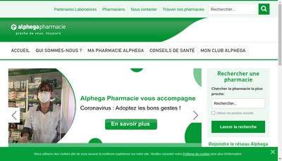 Site internet de Pharmacie Veyssiere