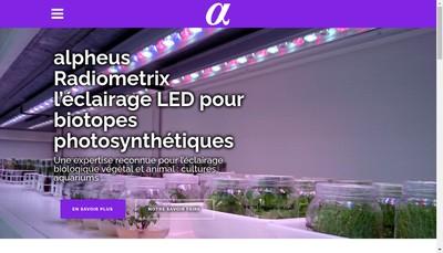 Site internet de Alpheus