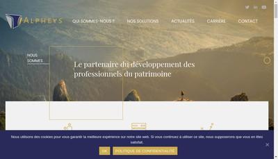 Site internet de Alpheys Invest