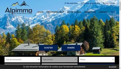 Site internet de Alp'Immo
