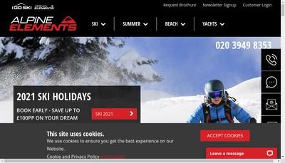 Site internet de Alpine Elements Services