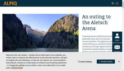 Site internet de Alpiq Solutions France SAS