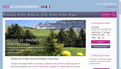 Site internet de Alps Accommodation