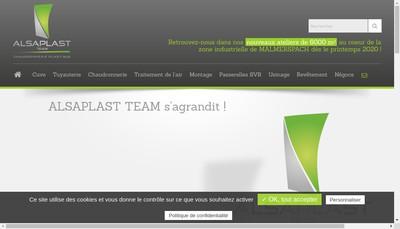 Site internet de Alsaplast Team