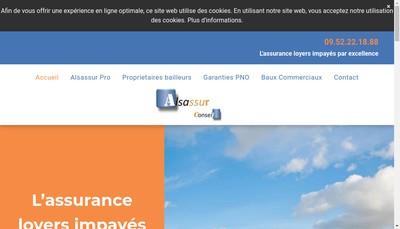 Site internet de Alsassur Conseil
