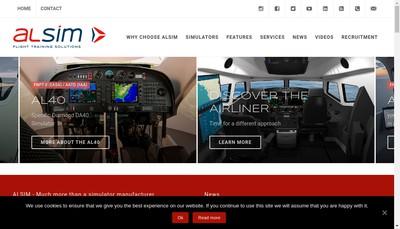Site internet de Alsim Leasing