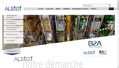 Site internet de Alstef Automation SA