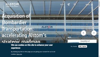 Site internet de Alstom Holdings