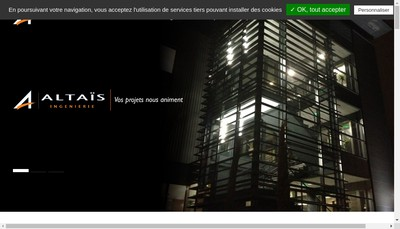 Site internet de Altais Ingenierie