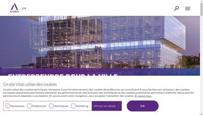 Site internet de Cogedim Paris Metropole
