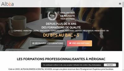 Site internet de Altea Formation