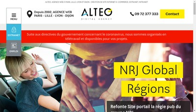 Site internet de Alteo