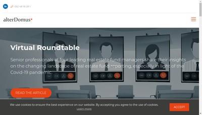Site internet de Alter Domus Fund Services France