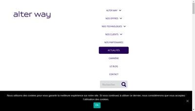Site internet de Alter Way